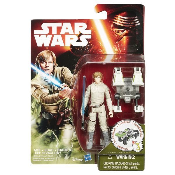 Star Wars The Force Awakens 2015 Luke Skywalker Bespin with Build a Weapon Part