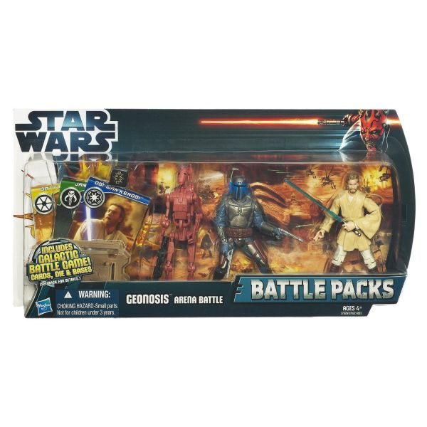 Star Wars Geonosis Arena Battle mit Jango Fett, Battle Droid & Obi-Wan Kenobi