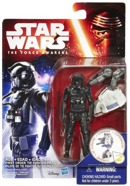 Star Wars EP II First Order Tie Fighter Pilot with Build a Weapon Part
