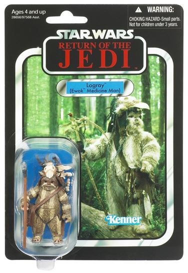 "Star Wars Logray Ewok Medicine Man ""Return of the Jedi"" VC55 - The Vintage Collection"
