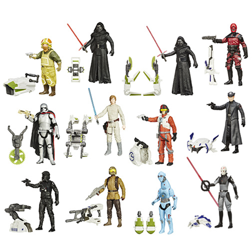 Star Wars The Force Awakens 3 3/4-Inch Jungle and Space Action Figures Wave 3 Case