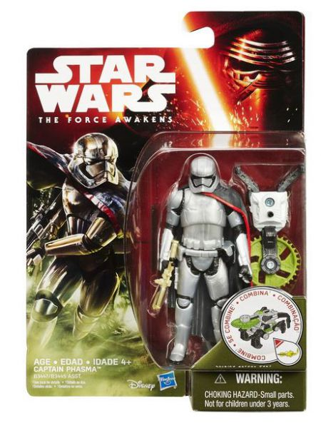 Star Wars: Episode VII - The Force Awakens 3/4-Inch Captain Phasma with Build a Weapon Part
