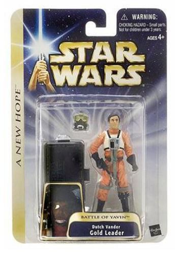 Star Wars Dutch Vander Gold Leader (Battle of Yavin) Figur - A New Hope 2004