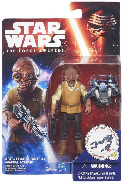 Star Wars The Force Awakens 3.75-Inch Figure Admiral Ackbar